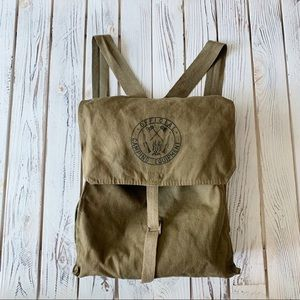 VINTAGE CAMPING ARMY STYLE HIKING BACKPACK